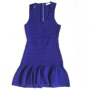 Sis Sis Dresses - Sis Sis rib knit ruffle hem dress with cutout back